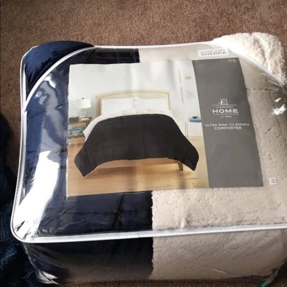 jcpenney Other | Ultra Mink To Sherpa Comforter Fullqueen New